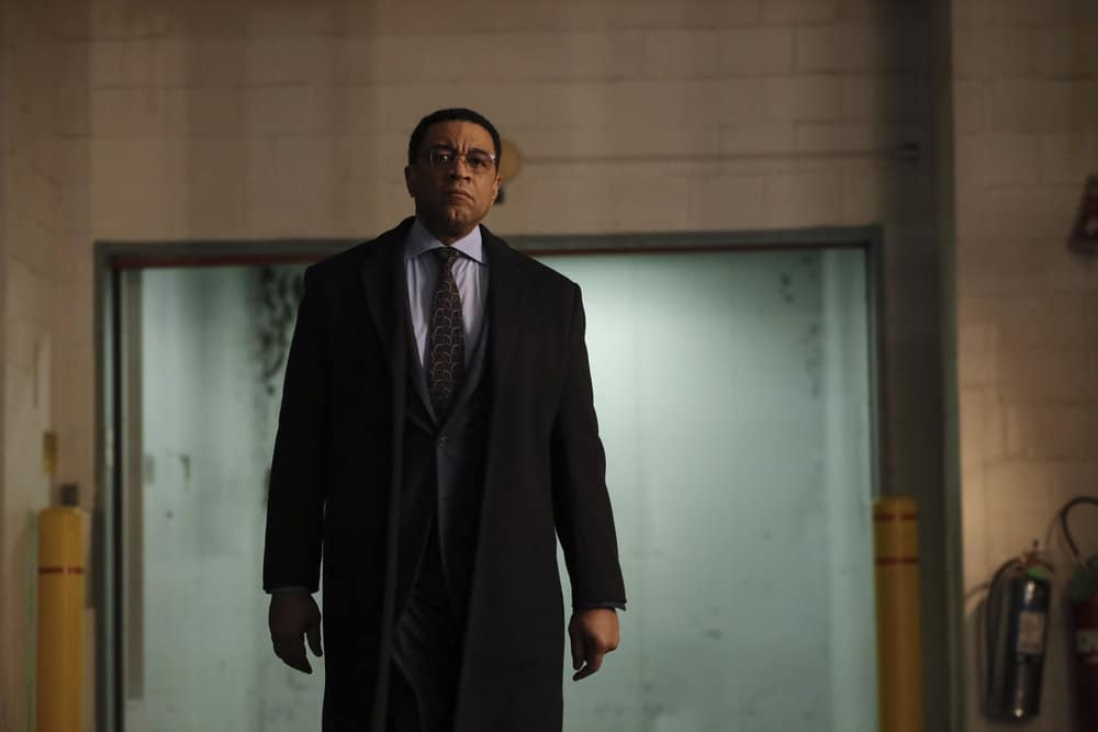 "THE BLACKLIST Season 8 Episode 10 -- ""Dr. Laken Perillos (#70)"" Episode 810 -- Pictured: Harry Lennix as Harold Cooper -- (Photo by: Will Hart/NBC)"