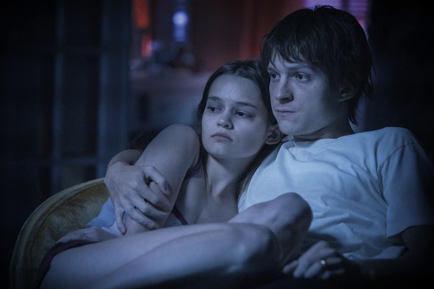 """Tom Holland and Ciara Bravo in """"Cherry,"""" now streaming on Apple TV+"""