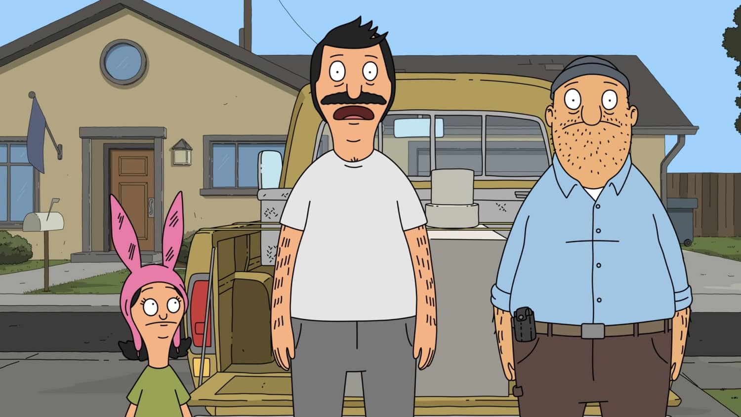 "BOB'S BURGERS Season 11 Episode 14 : When Linda and Tina go to the shoe store, Gene accidentally is left home by himself. Meanwhile, Bob, Louise and Teddy go to buy restaurant equipment from a creepy guy whom Bob found on the internet in the ìMr. Lonely Farts"" episode of BOBíS BURGERS airing Sunday, March 14 (9:00-9:30 PM ET/PT) on FOX. BOBíS BURGERS © 2021 by 20th Television."
