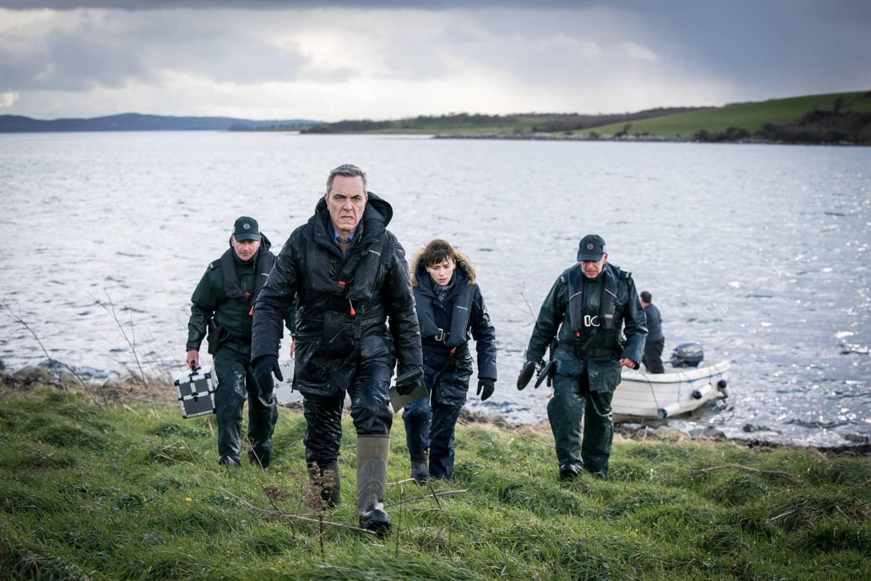 James Nesbitt as Tom Brannick, Charlene McKenna as Niamh McGovern - Bloodlands _ Season 1, Episode 1 - Photo Credit: Steffan Hill/AcornTV