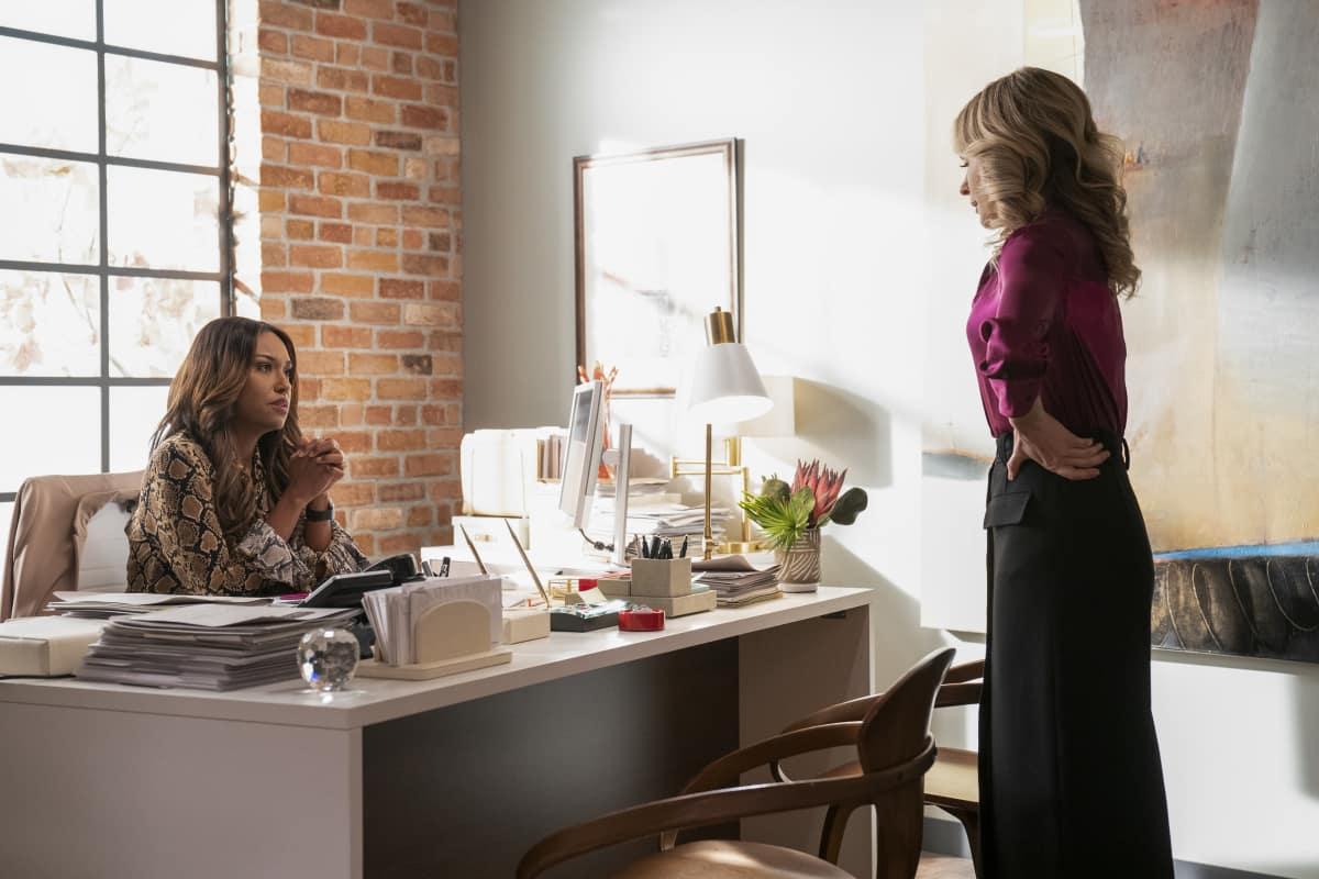 "All Rise Season 2 Episode 10 ""Georgia"" – Pictured (L-R): Ryan Michelle Bathe as Rachel Audubon and Lindsay Gort as Amy Quinn"