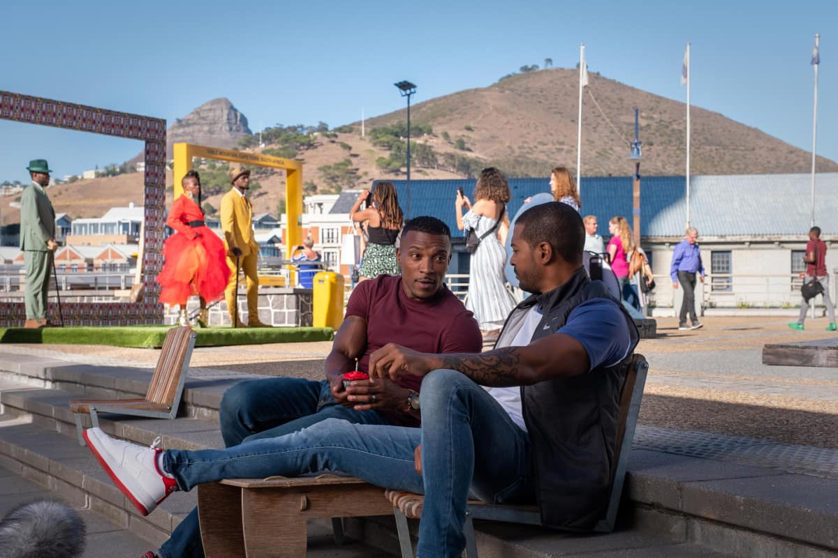 """Bulletproof Season 3 Episode 1 -- """"South Africa: Episode 1"""" -- Image Number: BLP301_6639.jpg -- Pictured (L-R): Ashley Walters as Ronnie Pike and Noel Clarke as Aaron Bishop -- Photo: © Sky UK Limited."""
