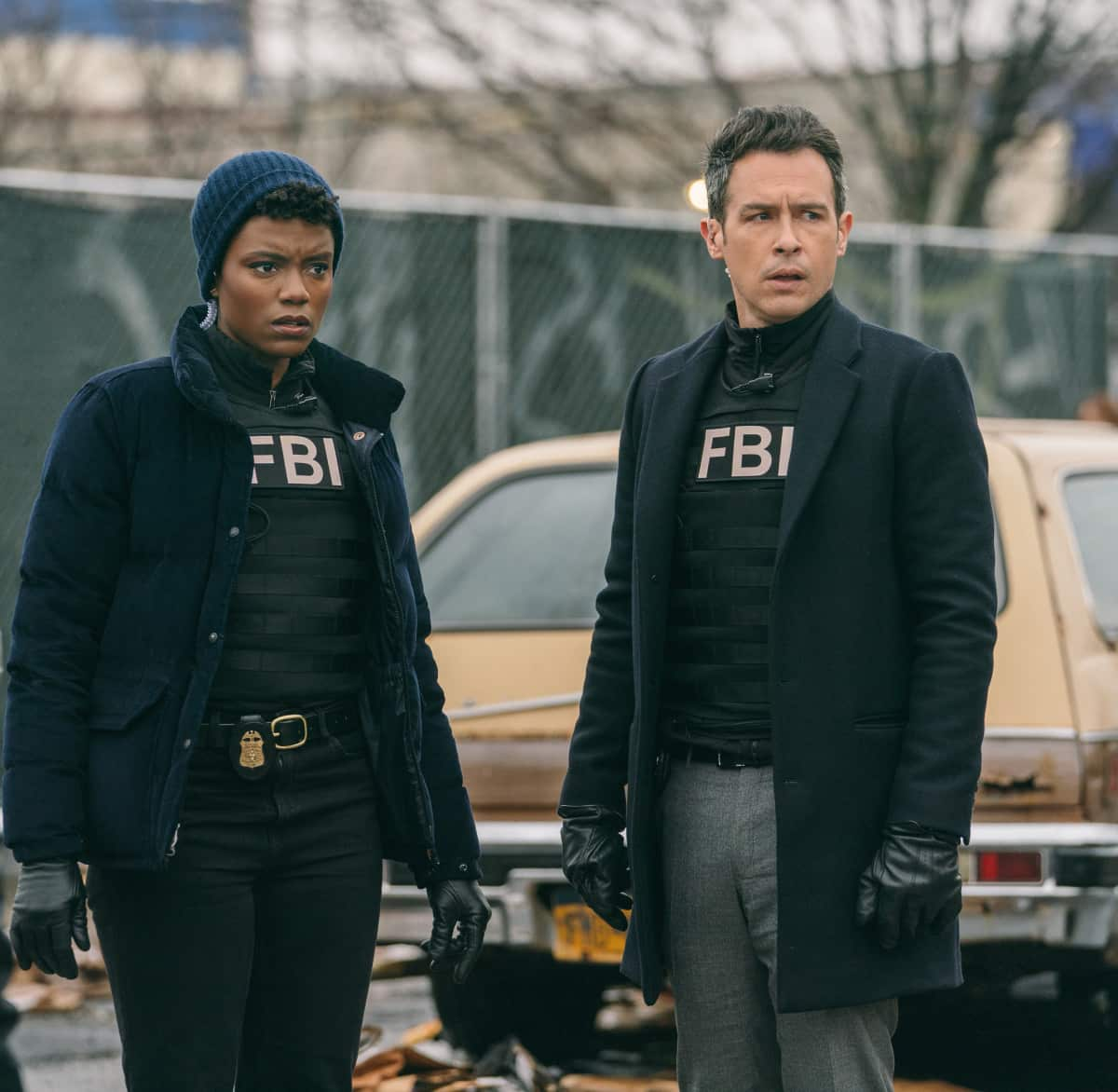 "FBI Season 3 Episode 9 ""Leverage"" - Pictured (L-R) Katherine Renee Turner as Special Agent Tiffany Wallace and John Boyd as Special Agent Stuart Scola"