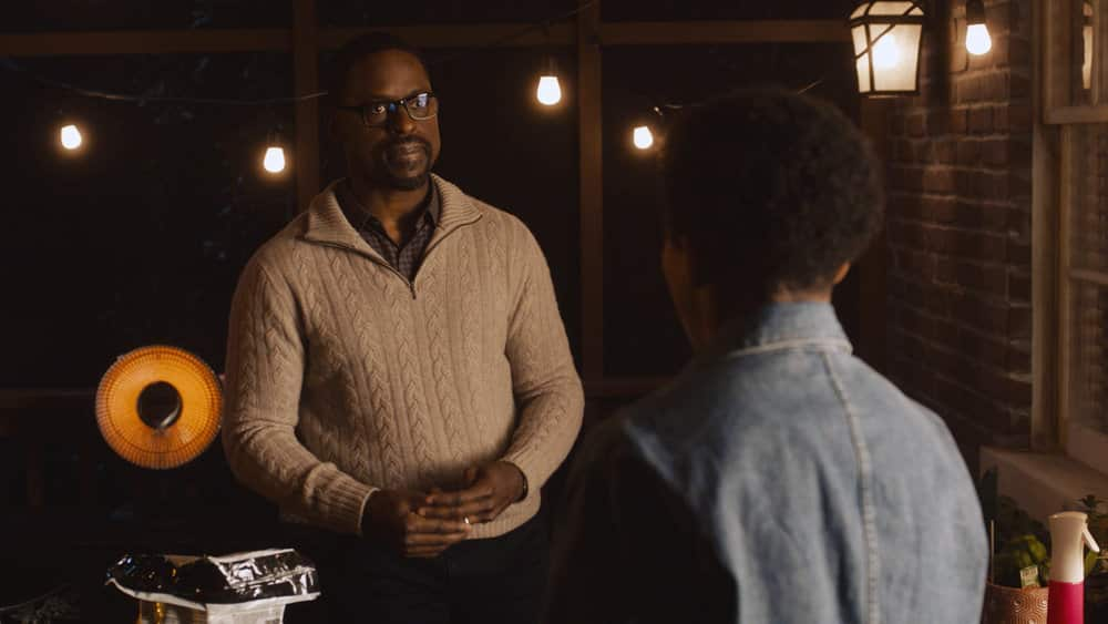 "THIS IS US Season 5 Episode 10 -- ""I've Got This"" Episode 510 -- Pictured in this screengrab: (l-r) Sterling K. Brown as Randall, Asante Blackk as Malik -- (Photo by: NBC)"