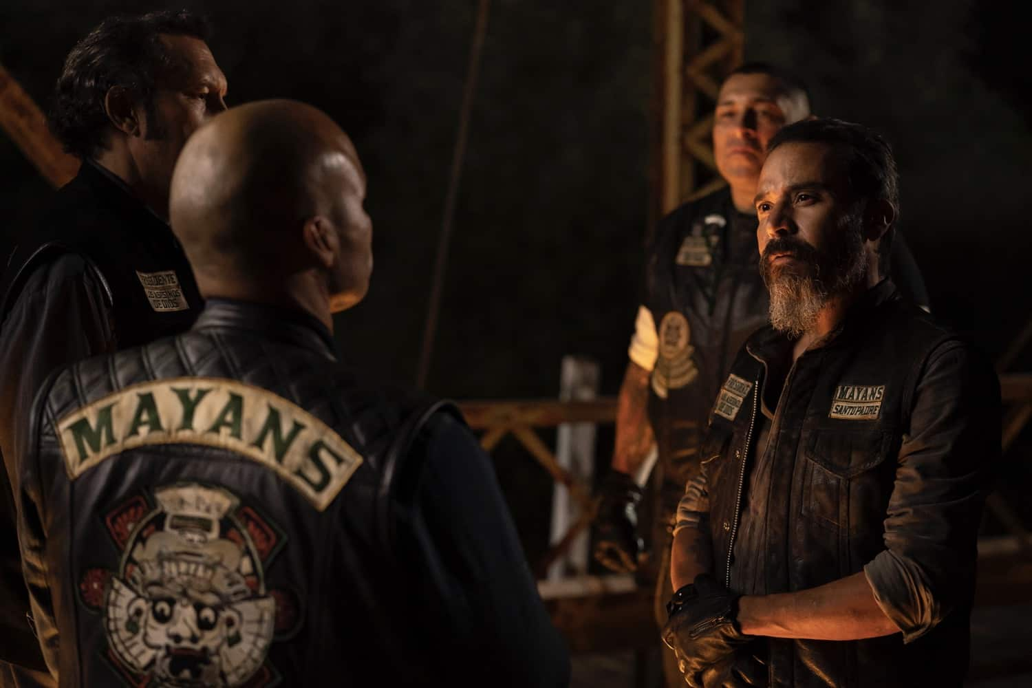 "MAYANS M.C. -- ""Pap Struggles with the Death Angel"" -- Season 3, Episode 1  (Airs March 16)  Pictured: Michael Irby as Obispo ""Bishop"" Losa. CR: Justin Lubin/FX"