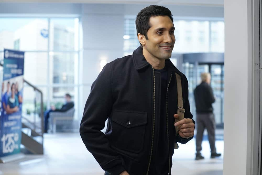"""CHICAGO MED -- """"For The Want Of A Nail"""" Episode 609 -- Pictured: Dominic Rains as Crockett Marcel -- (Photo by: Elizabeth Sisson/NBC)"""