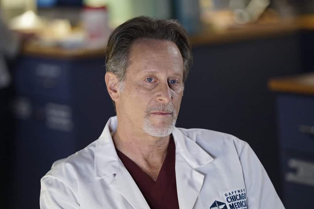 """CHICAGO MED -- """"For The Want Of A Nail"""" Episode 609 -- Pictured: Steven Weber as Dr. Dean Archer -- (Photo by: Elizabeth Sisson/NBC)"""