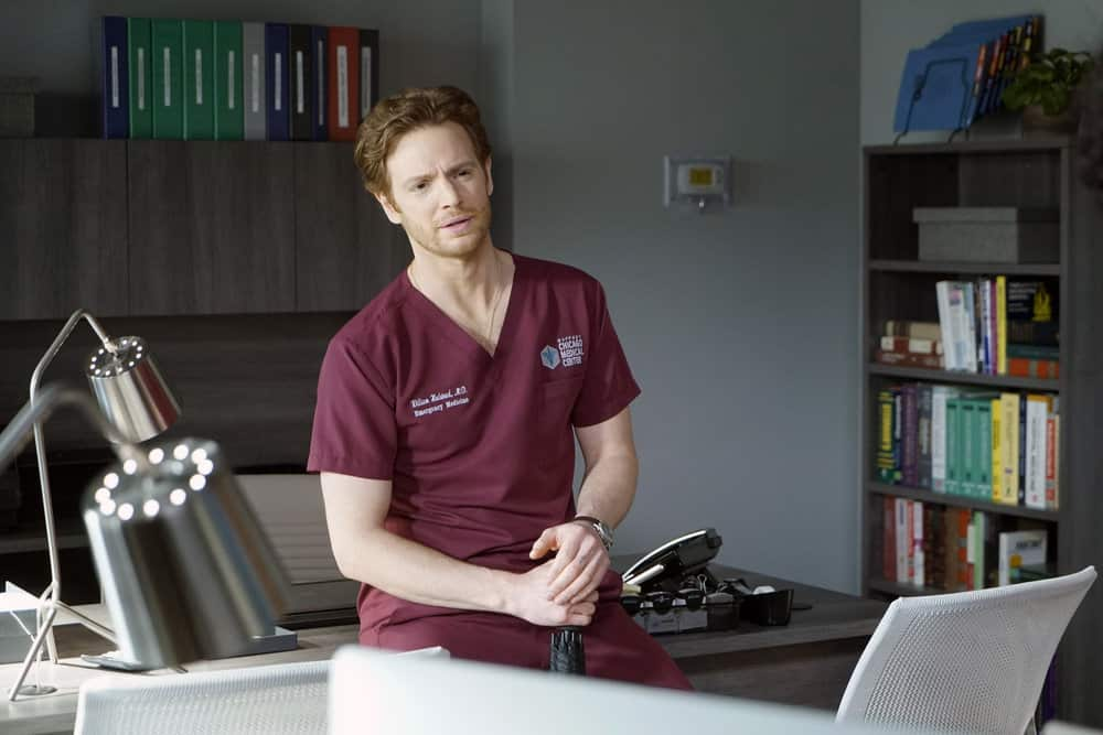 """CHICAGO MED -- """"For The Want Of A Nail"""" Episode 609 -- Pictured: Nick Gehlfuss as Dr. Will Halstead -- (Photo by: Elizabeth Sisson/NBC)"""