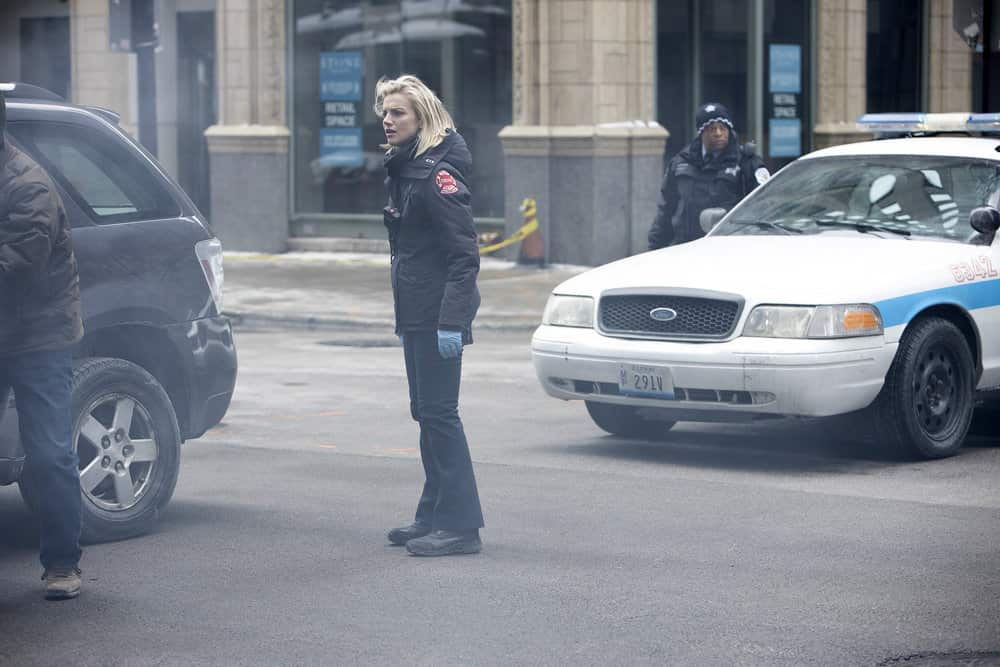 """CHICAGO FIRE -- """"Double Red"""" Episode 909 -- Pictured: Kara Killmer as Sylvie Brett -- (Photo by: Adrian S. Burrows Sr./NBC)"""