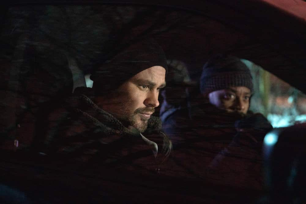 "CHICAGO P.D. -- ""Impossible Dream"" Episode 809 -- Pictured: (l-r) Patrick John Flueger as Adam Ruzek, LaRoyce Hawkins as Kevin Atwater -- (Photo by: Sandy Morris/NBC)"