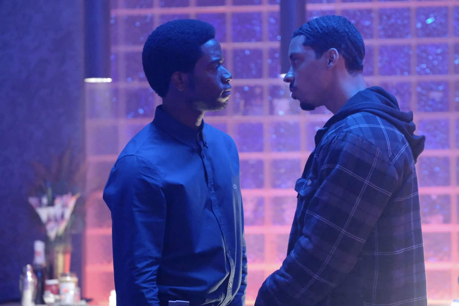 """The Get Back"" -- Season 4, Episode 5 (Airs Wednesday, March 17) -- Pictured: (l-r) Damson Idris as Franklin Saint, Melvin Gregg as Manboy. CR: Ray Mickshaw/FX"
