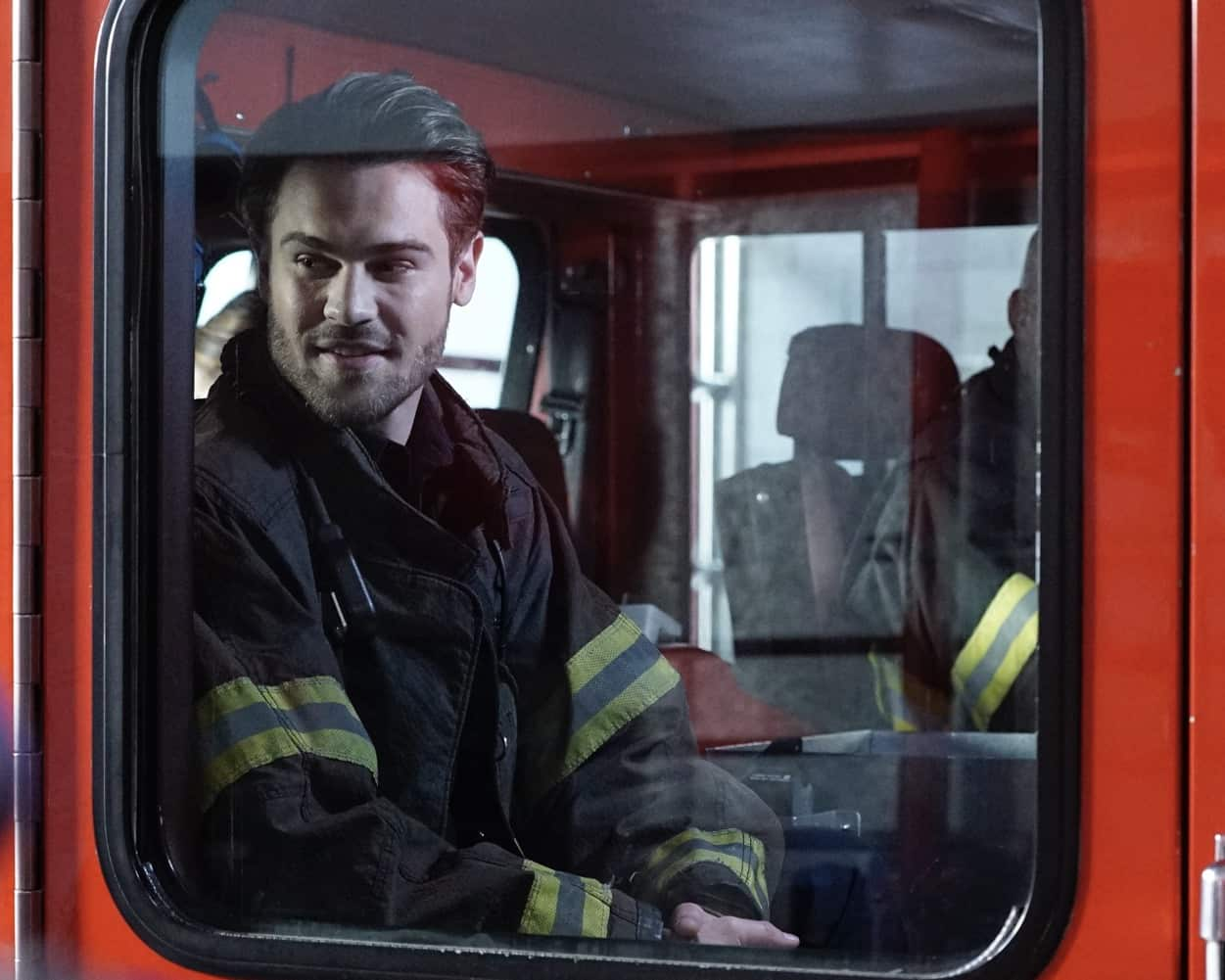"""STATION 19 - """"Learning to Fly"""" – The Station 19 crew is called to a cult gathering where they find their leader, Brother John, dancing on the roof and claiming he can fly. Meanwhile, Travis gets a surprise visit from his father, and Dean makes a difficult decision that could affect his career trajectory on an all-new episode of """"Station 19,"""" THURSDAY, MARCH 18 (8:00-9:00 p.m. EST), on ABC. (ABC/Kelsey McNeal) GREY DAMON"""