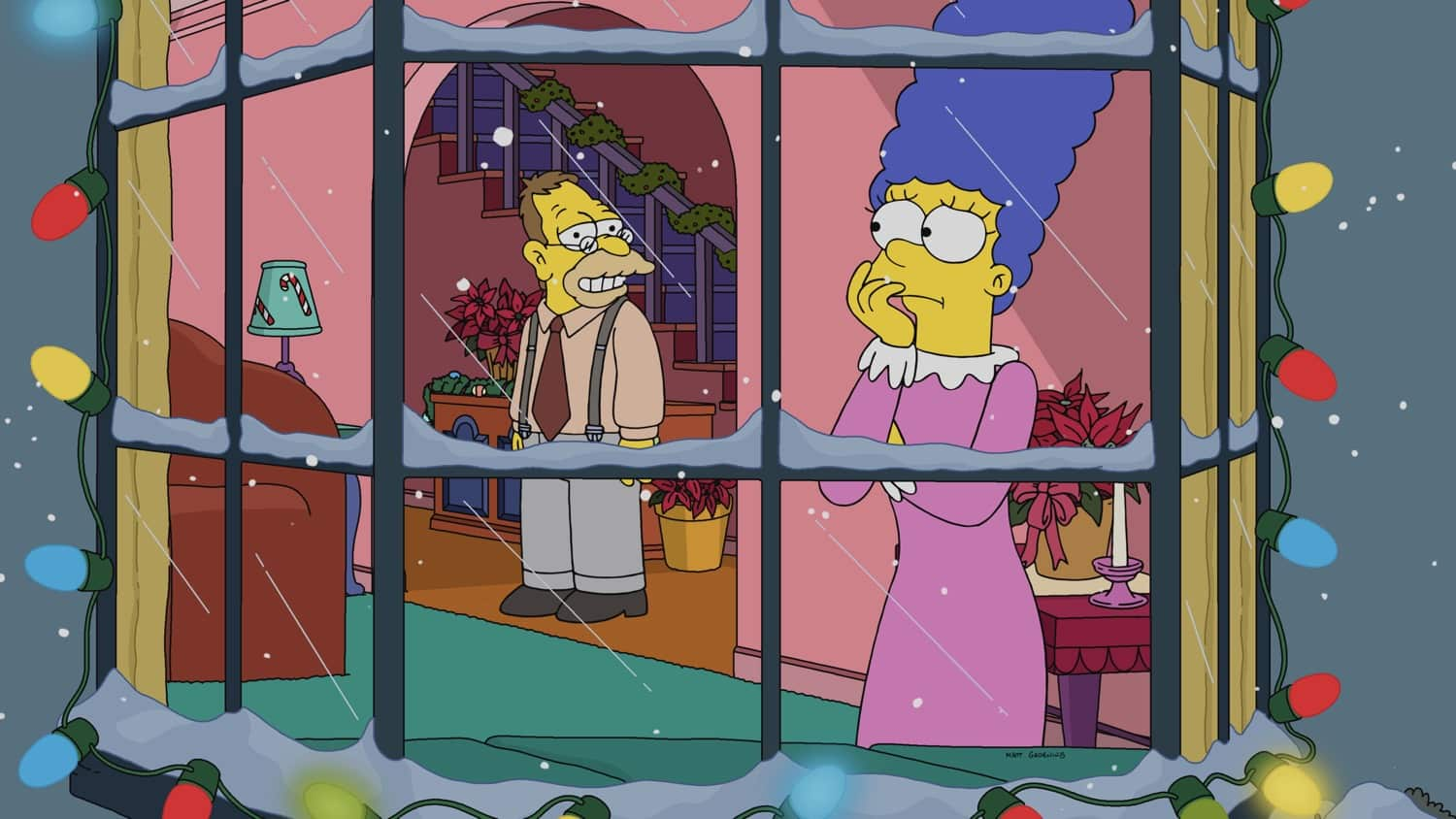 """THE SIMPSONS: Learn a secret of Flanders' past and discover a never-before-seen room in the Simpson home in the """"Manger Things"""" milestone 700th episode of THE SIMPSONS airing Sunday, March 21 (8:00-8:30 PM ET/PT) on FOX. THE SIMPSONS © 2021 by 20th Television."""