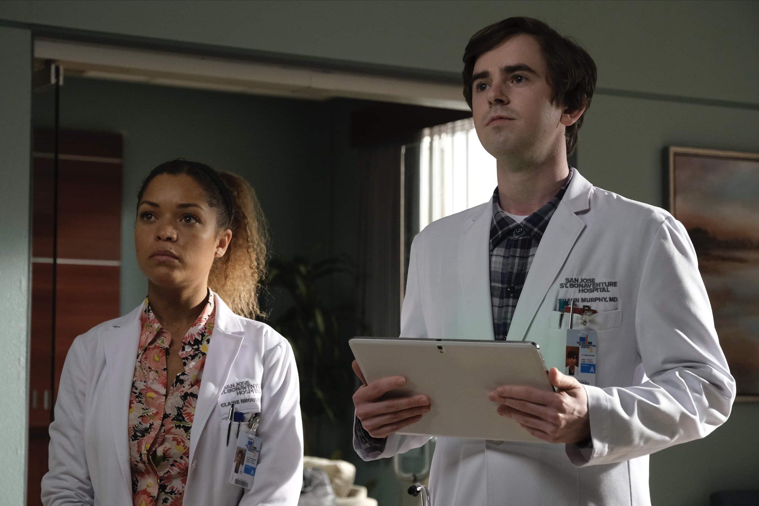 THE GOOD DOCTOR Season 4 Episode 12 Photos Teeny Blue Eyes ANTONIA THOMAS, FREDDIE HIGHMORE