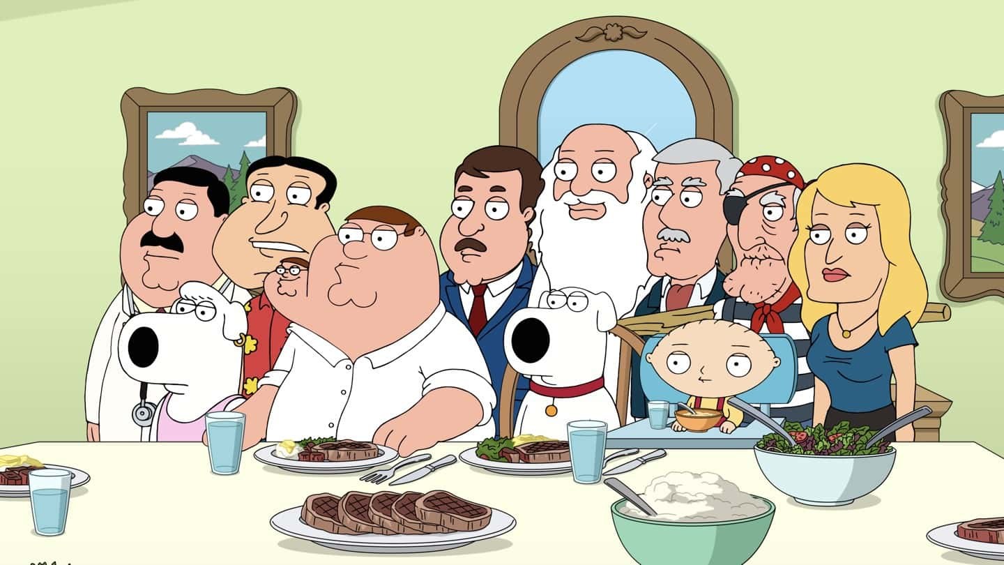 """FAMILY GUY Season 19 Episode 15 : After feeling unappreciated by her family, Lois taps into her villainous side and attempts to win """"Best Customer"""" at her favorite coffee shop in the """"Customer of the Week"""" episode of FAMILY GUY airing Sunday, March 28 (9:30-10:00 PM ET/PT) on FOX. FAMILY GUY © 2021 by 20th Television."""