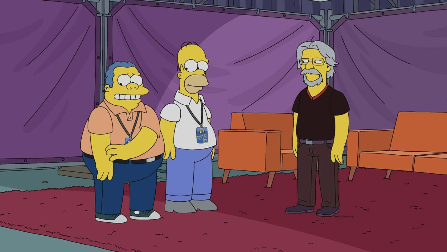 """THE SIMPSONS Season 32 Episode 17 : We learn that Chief Wiggum's wife is more than she seems. Meanwhile, Marge takes part in a jewel heist in the """"Uncut Femmes"""" episode of THE SIMPSONS airing Sunday, March 28 (8:00-8:30 PM ET/PT) on FOX. Guest voice Bob Seger (right). THE SIMPSONS © 2021 by 20th Television."""