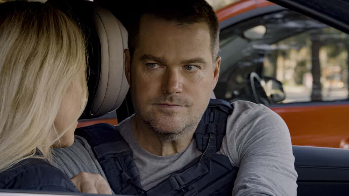 """NCIS Los Angeles Season 12 Episode 13 """"Red Rover, Red Rover"""" - Pictured: Chris O'Donnell (Special Agent G. Callen). To rescue Joelle from further torture by the Russians, Callen and NCIS must offer up Anna as bait to Katya. Also, Callen finally discovers who accused him of being Russian spy, on NCIS: LOS ANGELES, Sunday, March 28 (9:00-10:00 PM, ET/PT) on the CBS Television Network. Photo: Screen Grab/CBS ©2021 CBS Broadcasting, Inc. All Rights Reserved."""