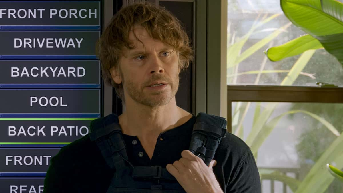 """NCIS Los Angeles Season 12 Episode 13 """"Red Rover, Red Rover"""" - Pictured: Eric Christian Olsen (LAPD Liaison Marty Deeks). To rescue Joelle from further torture by the Russians, Callen and NCIS must offer up Anna as bait to Katya. Also, Callen finally discovers who accused him of being Russian spy, on NCIS: LOS ANGELES, Sunday, March 28 (9:00-10:00 PM, ET/PT) on the CBS Television Network. Photo: Screen Grab/CBS ©2021 CBS Broadcasting, Inc. All Rights Reserved."""