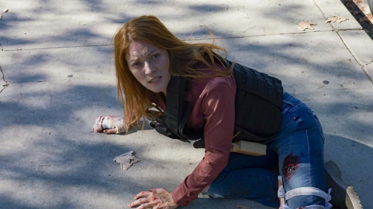 """NCIS Los Angeles Season 12 Episode 13 """"Red Rover, Red Rover"""" - Pictured: Elizabth Bogush (Joelle Taylor). To rescue Joelle from further torture by the Russians, Callen and NCIS must offer up Anna as bait to Katya. Also, Callen finally discovers who accused him of being Russian spy, on NCIS: LOS ANGELES, Sunday, March 28 (9:00-10:00 PM, ET/PT) on the CBS Television Network. Photo: Screen Grab/CBS ©2021 CBS Broadcasting, Inc. All Rights Reserved."""