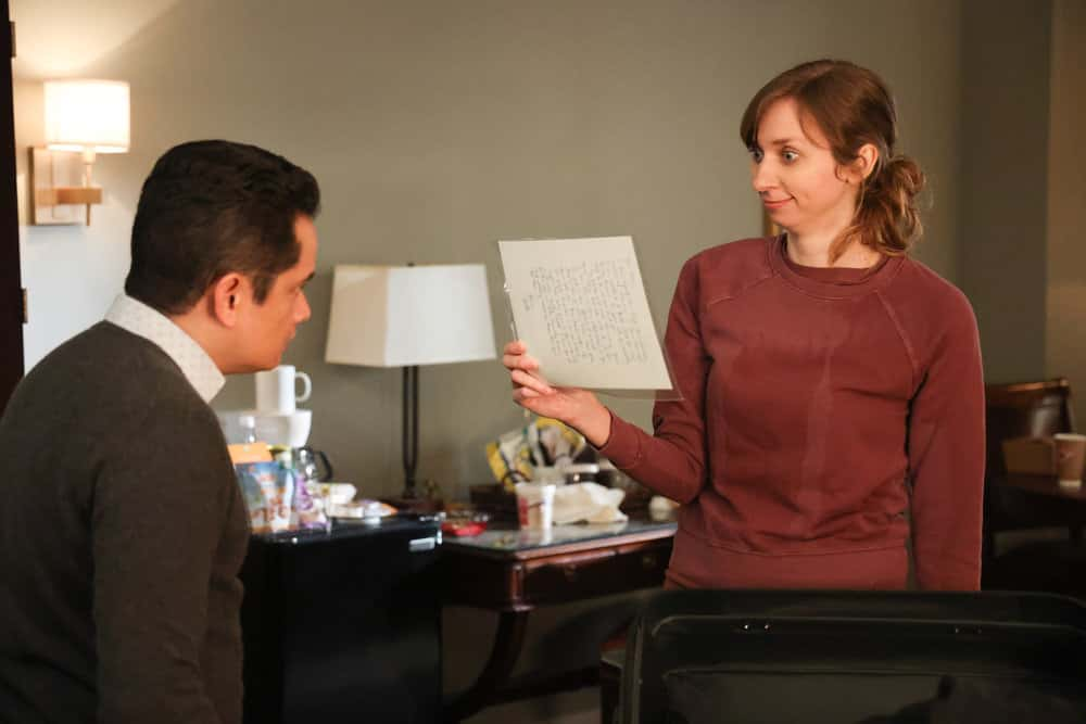 "GOOD GIRLS Season 4 Episode 4 -- ""Dave"" Episode 404 -- Pictured: (l-r) Rodney To as Henry, Lauren Lapkus as Phoebe -- (Photo by: Jordin Althaus/NBC)"