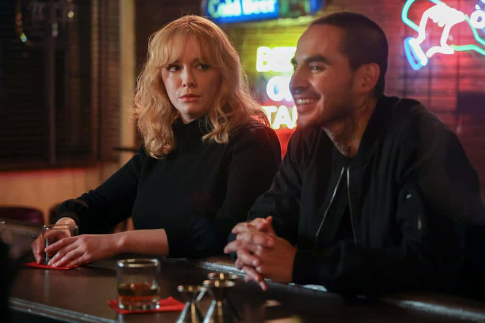 "GOOD GIRLS Season 4 Episode 4 -- ""Dave"" Episode 404 -- Pictured: (l-r) Christina Hendrick as Beth Boland, Manny Montana as Rio -- (Photo by: Jordin Althaus/NBC)"