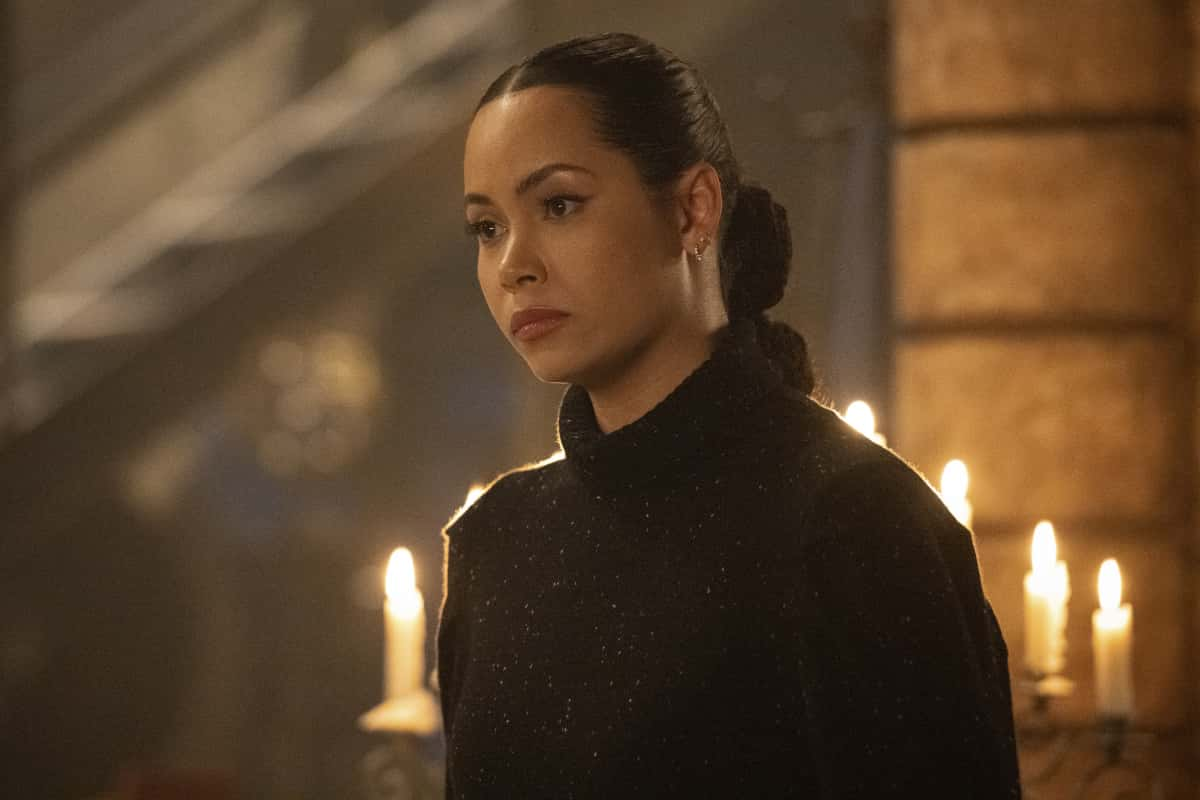"""Charmed Season 3 Episode 8 -- """"O, The Tangled Web"""" -- Image Number: CMD308b_0204r -- Pictured: Madeleine Mantock as Macy Vaughn -- Photo: Dean Buscher/The CW -- © 2021 The CW Network, LLC. All Rights Reserved."""
