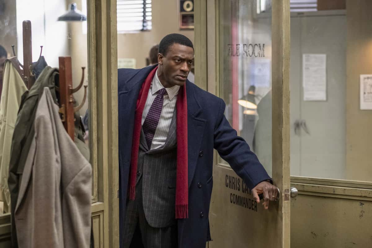 """City On A Hill Season 2 Episode 1 Aldis Hodge as Decourcy Ward in CITY ON A HILL, """"Bill Russell's Bedsheets"""". Photo Credit: Francisco Roman/SHOWTIME."""