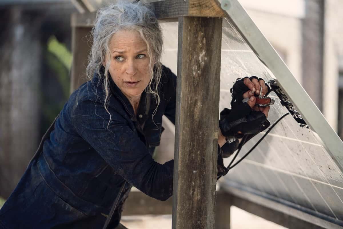 The Walking Dead Season 10 Episode 21 Melissa McBride as Carol Peletier - The Walking Dead _ Season 10, Episode 21 - Photo Credit: Eli Ade/AMC