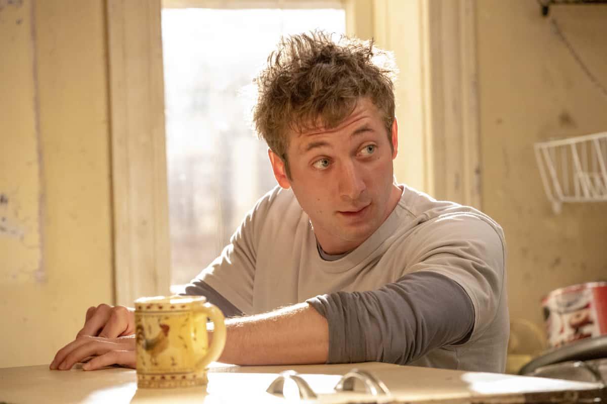 "Shameless Season 11 Episode 10 Jeremy Allen White as Lip Gallagher in SHAMELESS, ""DNR"". Photo Credit: Paul Sarkis/SHOWTIME."