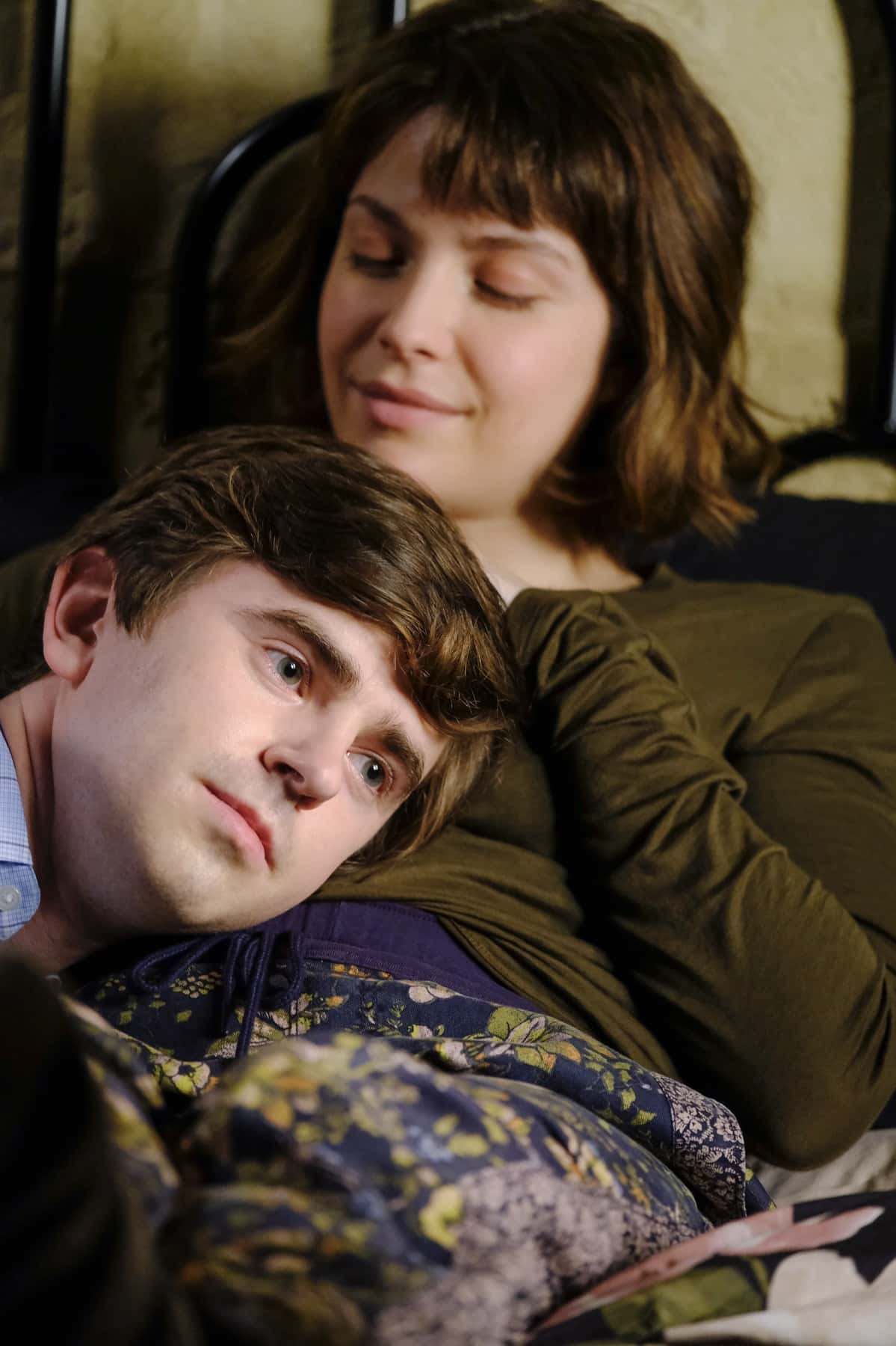 "THE GOOD DOCTOR Season 4 Episode 13 - ""Spilled Milk"" – Claire is blindsided when her absentee father shows up at her door. Meanwhile, Shaun feels disconnected from Lea, causing tension in their relationship on an all-new episode of ""The Good Doctor,"" MONDAY, MARCH 29 (10:00-11:00 p.m. EDT), on ABC. (ABC/Jeff Weddell) FREDDIE HIGHMORE"