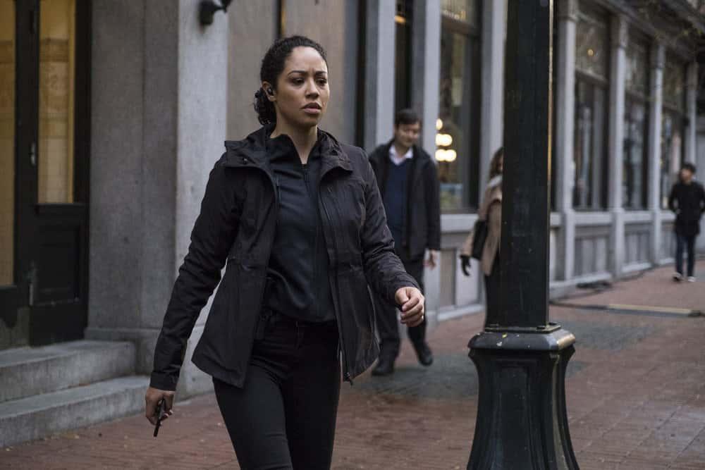 "DEBRIS Season 1 Episode 5 -- ""Earthshine"" Episode: 105 -- Pictured: Riann Steele as Finola Jones -- (Photo by: James Dittiger/NBC)"