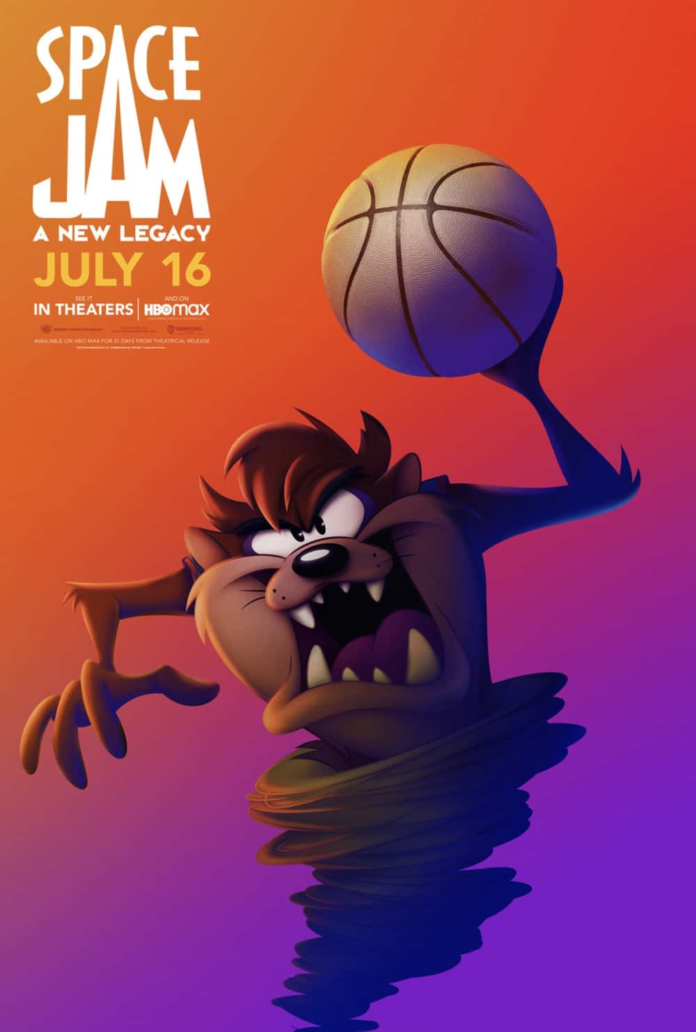 Space Jam : A New Legacy Tasmanian Devil Poster