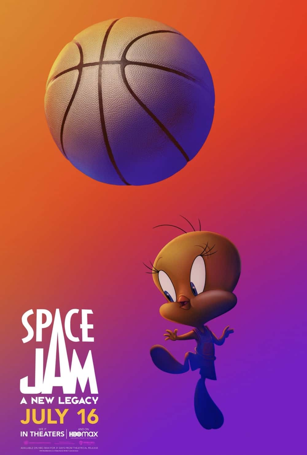 Space Jam : A New Legacy Tweety Bird Poster