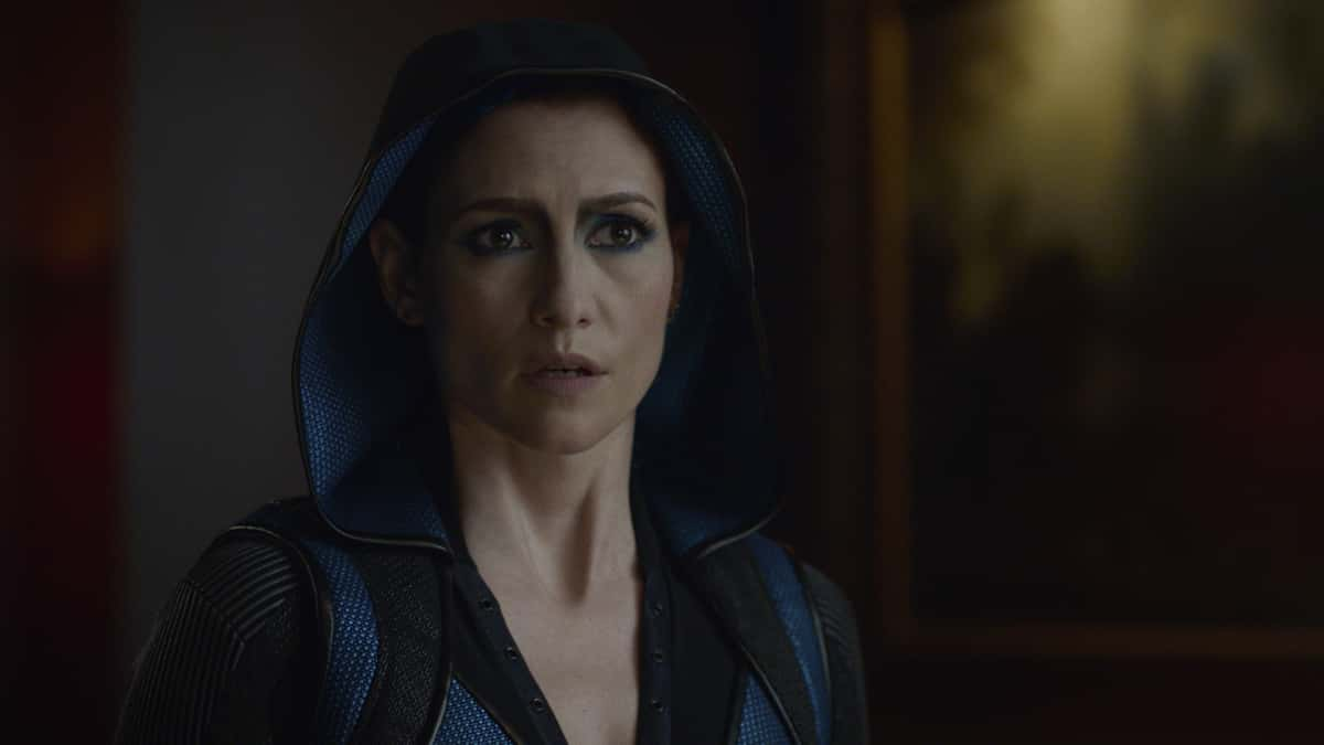 """Supergirl Season 6 Episode 1 -- """"Rebirth"""" -- Image Number: SPG601fg_135r -- Pictured: Chyler Leigh as Alex Danvers -- Photo: Dean Buscher/The CW -- © 2021 The CW Network, LLC. All Rights Reserved."""