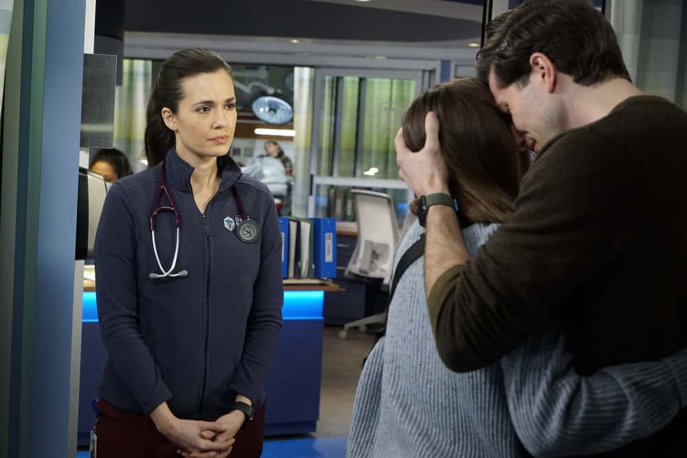 "CHICAGO MED Season 6 Episode 10 -- ""So Many Things We've Kept Buried"" Episode 610 -- Pictured: (l-r) Torrey DeVitto as Natalie Manning -- (Photo by: Elizabeth Sisson/NBC)"