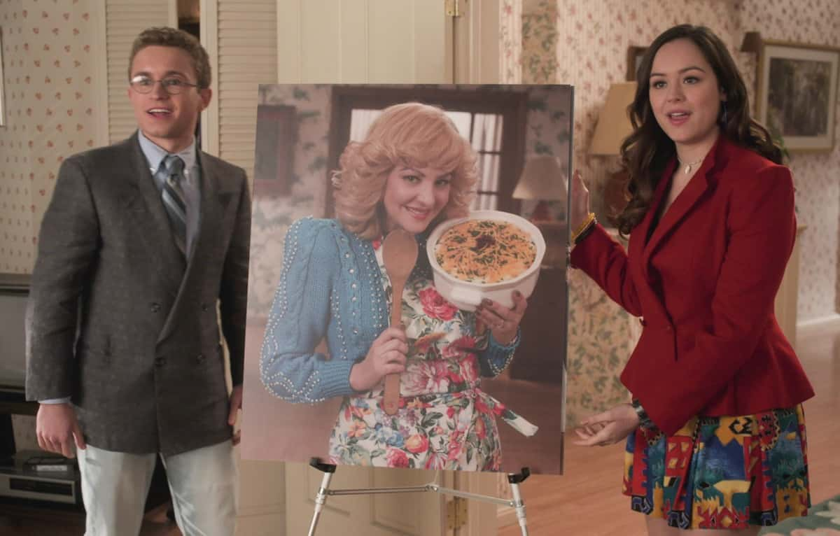 "THE GOLDBERGS Season 8 Episode 15  - ""Bever-lé"" - When the NFL players go on strike and the football season is threatened, Barry gets concerned that he and Murray will no longer have anything to talk about which leads Barry to try out for the Eagles team himself. Against Erica's advice, Beverly decides to start selling a nutritional product from a sketchy company in an attempt to gain financial independence on a new episode of ""The Goldbergs,"" WEDNESDAY, MARCH 31 (8:00-8:30 p.m. EDT), on ABC. (ABC) SEAN GIAMBRONE, HAYLEY ORRANTIA"