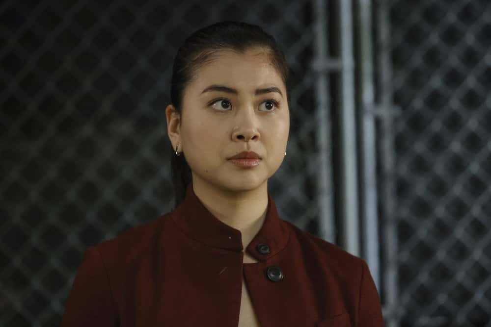 "THE BLACKLIST -- ""Rakitin (#28)"" Episode 812 -- Pictured: Laura Sohn as Agent Alina Park -- (Photo by: Will Hart/NBC)"