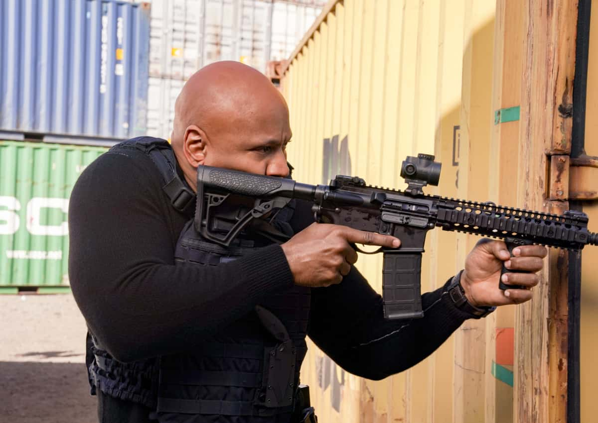 "NCIS Los Angeles Season 12 Episode 14 ""The Noble Maidens"" - Pictured: LL COOL J (Special Agent Sam Hanna). Callen and the team discover that Anna is being held by a group with ties to Anna\'s upbringing and must rescue her before she can be shipped back to Russia.  Also, Admiral Kilbride makes Nell a serious offer to consider, on NCIS: LOS ANGELES, Sunday, April 4 (9:00-10:00 PM, ET/PT) on the CBS Television Network.  Photo: Ron P. Jaffe/CBS ©2021 CBS Broadcasting, Inc. All Rights Reserved."