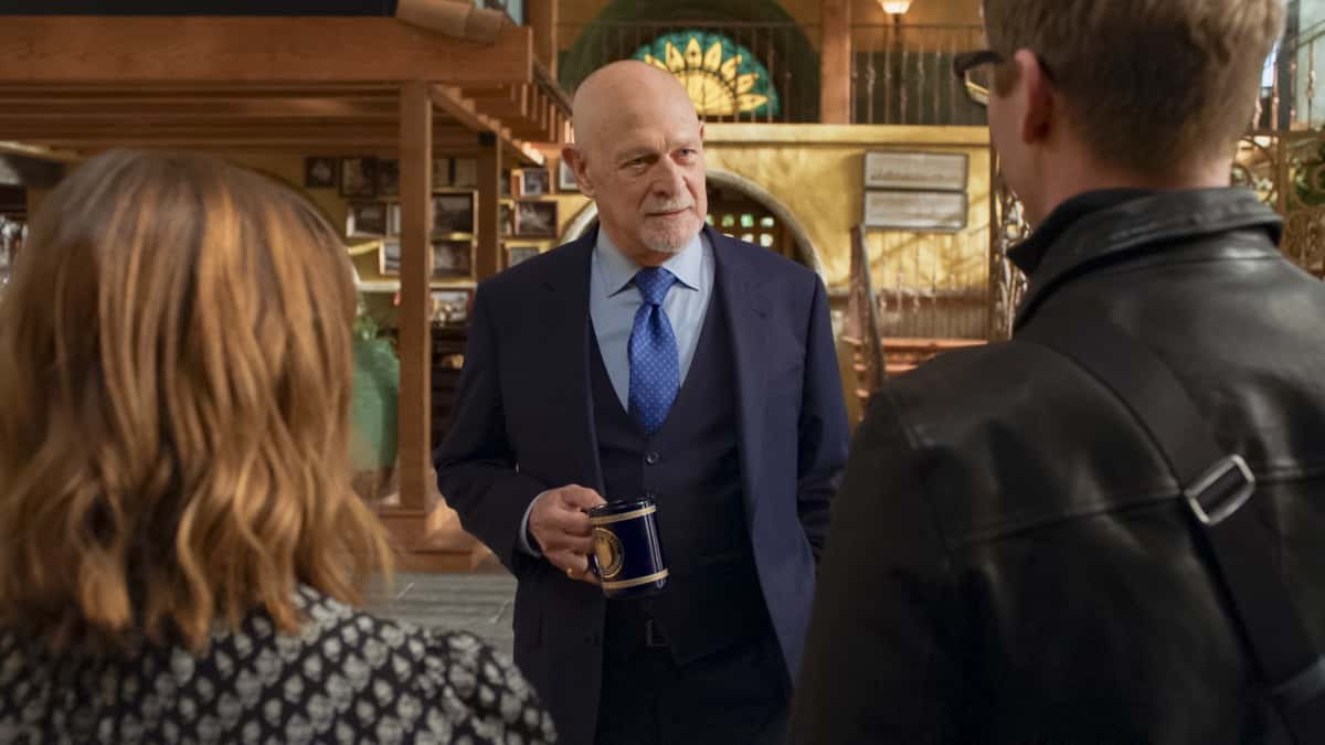 "NCIS Los Angeles Season 12 Episode 14 ""The Noble Maidens"" - Pictured: Gerald McRaney (Retired Navy Admiral Hollace Kilbride). Callen and the team discover that Anna is being held by a group with ties to Anna\'s upbringing and must rescue her before she can be shipped back to Russia.  Also, Admiral Kilbride makes Nell a serious offer to consider, on NCIS: LOS ANGELES, Sunday, April 4 (9:00-10:00 PM, ET/PT) on the CBS Television Network.  Photo: Screen Grab/CBS ©2021 CBS Broadcasting, Inc. All Rights Reserved."