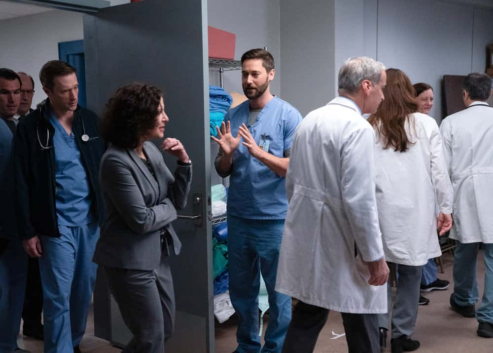 "NEW AMSTERDAM Season 3 Episode 6 -- ""Why Not Yesterday"" Episode 306 -- Pictured: Ryan Eggold as Dr. Max Goodwin -- (Photo by: Virginia Sherwood/NBC)"