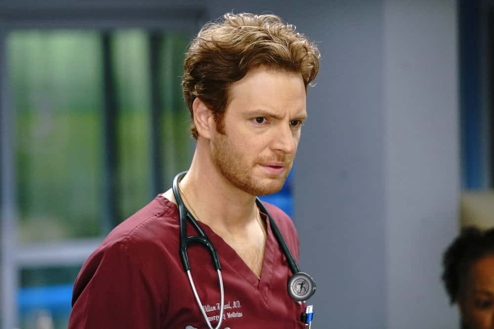 """CHICAGO MED Season 6 Episode 11 -- """"Letting Go Only To Come Together"""" Episode 611 -- Pictured: Nick Gehlfuss as Dr. Will Halstead  -- (Photo by: Elizabeth Sisson/NBC)"""