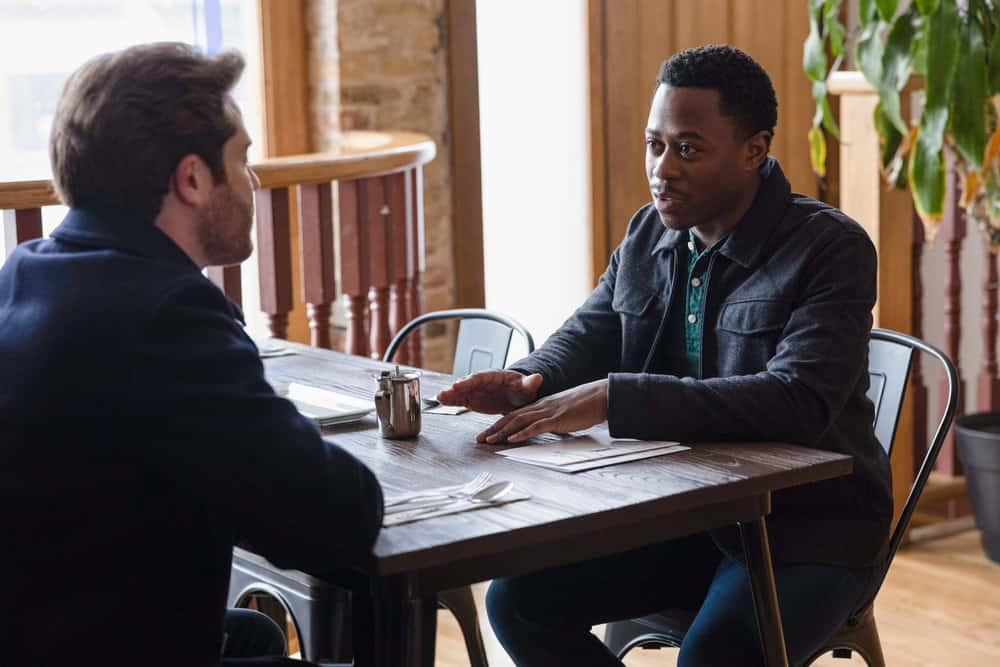 """CHICAGO FIRE Season 9 Episode 11 -- """"A Couple Hundred Degrees"""" Episode 911 -- Pictured: Daniel Kyri as Darren Ritter -- (Photo by: Adrian S. Burrows Sr./NBC)"""