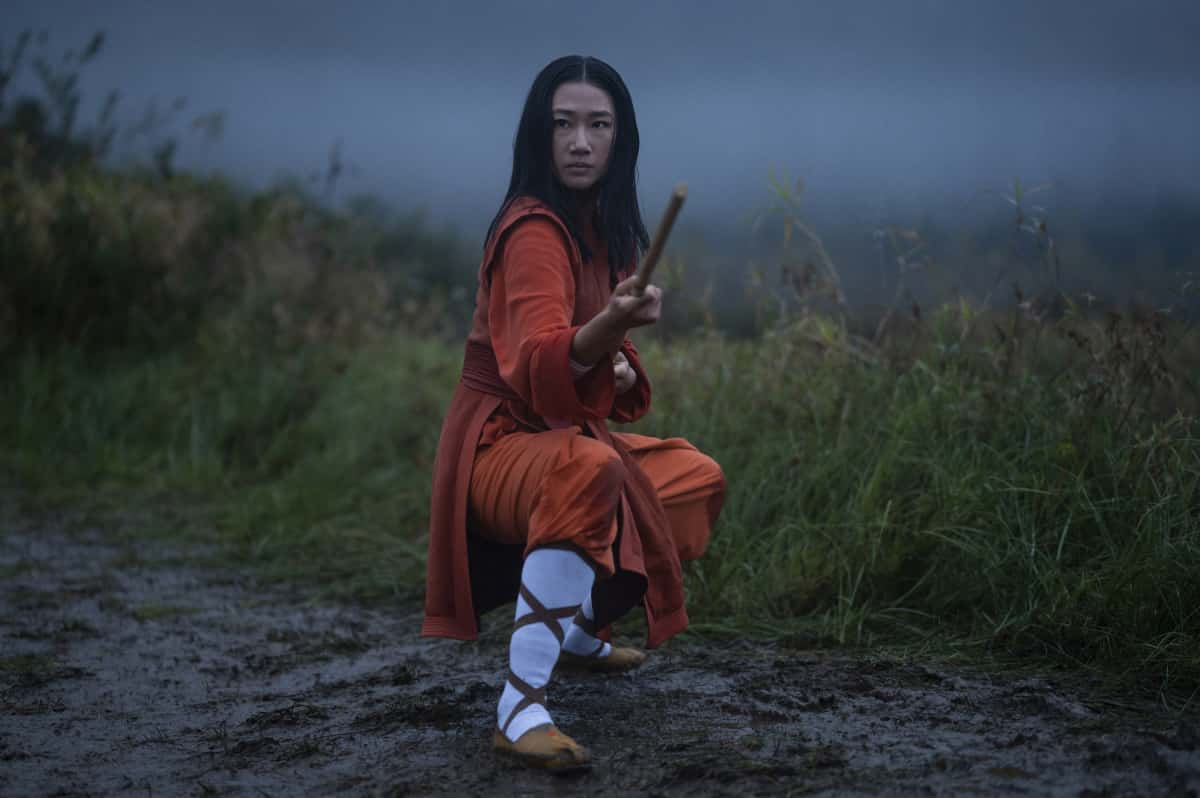 """Kung Fu Season 1 Episode 1 -- """"Pilot"""" -- Image Number: KF101d_0110r.jpg -- Pictured: Olivia Liang as Nicky Shen -- Photo: Kailey Schwerman/The CW -- © 2021 The CW Network, LLC. All Rights Reserved"""