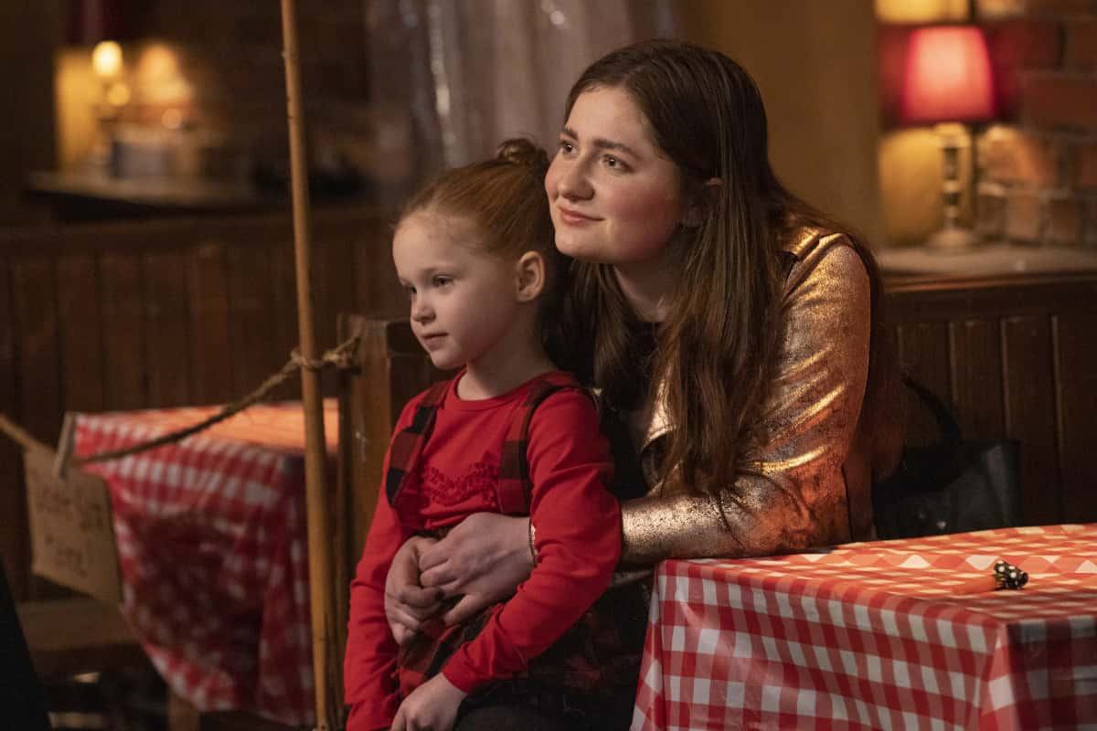 "Shameless Season 11 Episode 12 Emma Kenney as Debbie Gallagher in SHAMELESS, ""Father Frank, Full of Grace"". Photo Credit: Paul Sarkis/SHOWTIME."