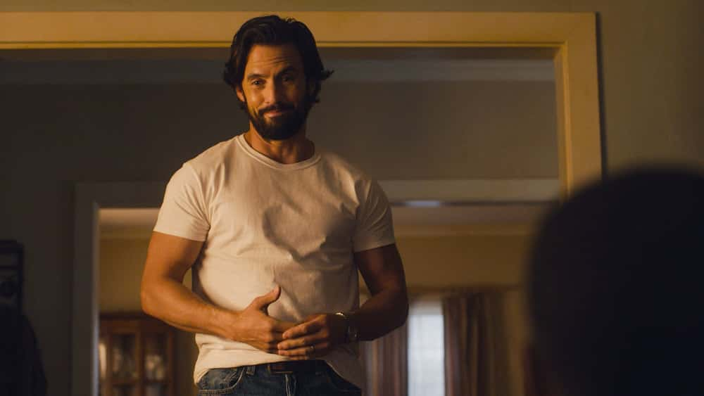 """THIS IS US Season 5 Episode 13 -- """"Brotherly Love"""" Episode 513 -- Pictured in this screengrab: Milo Ventimiglia as Jack -- (Photo by: NBC)"""