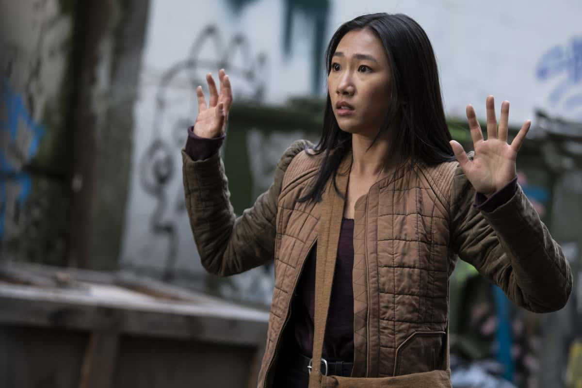 """Kung Fu Season 1 Episode 2 -- """"Silence"""" -- Image Number: KF102c_0139r.jpg -- Pictured:  Olivia Liang as Nicky Shen -- Photo: Kailey Schwerman/The CW -- © 2021 The CW Network, LLC. All Rights Reserved"""