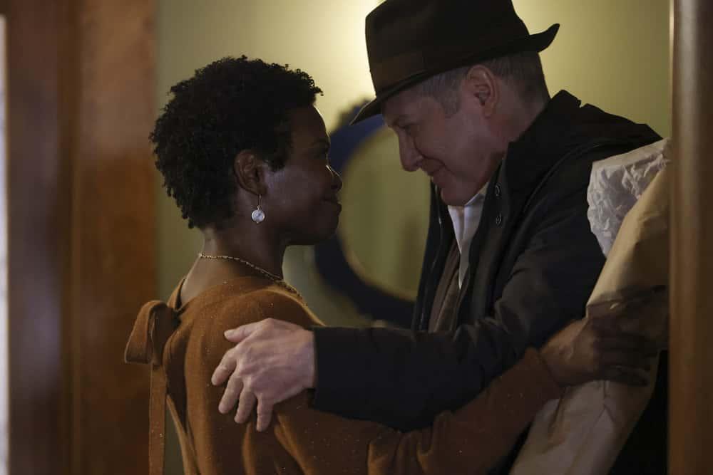 "THE BLACKLIST Season 8 Episode 13 -- ""Anne"" Episode 813 -- Pictured: (l-r) LaChanze as Anne, James Spader as Raymond ""Red"" Reddington -- (Photo by: Will Hart/NBC)"