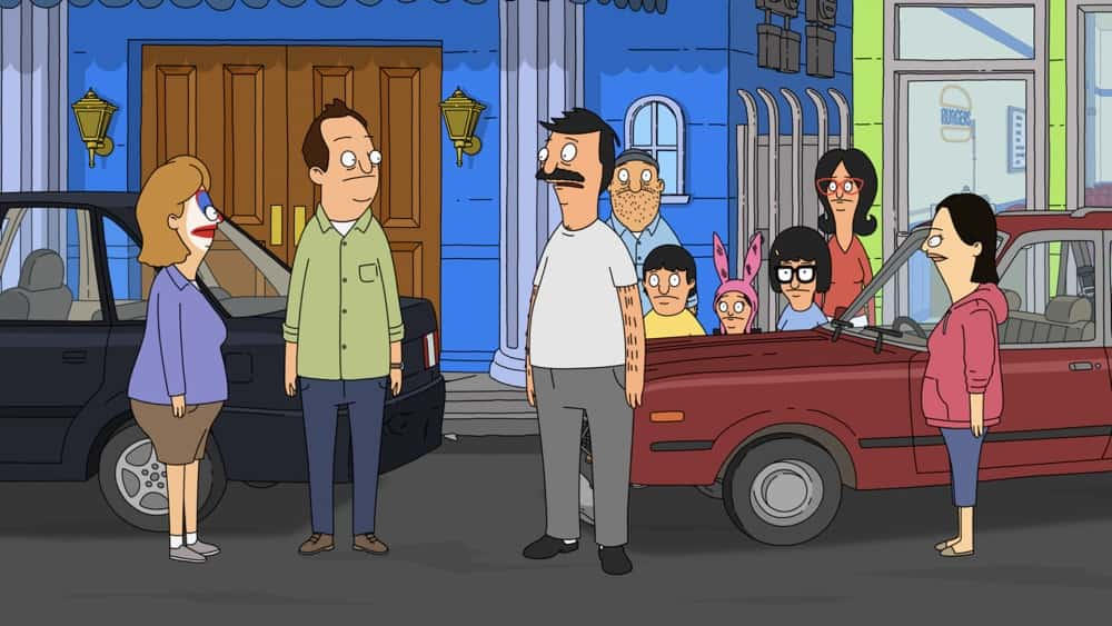 """BOB'S BURGERS Season 11 Episode 18 : When Bob gets into a four-car fender bender right outside the restaurant, he realizes finding out who is at fault will not be as simple as he thought in the """"Some Kind of Fender Benderful"""" episode of BOB'S BURGERS airing Sunday, April 18 (9:00-9:30 PM ET/PT) on FOX. BOB'S BURGERS © 2021 by 20th Television."""