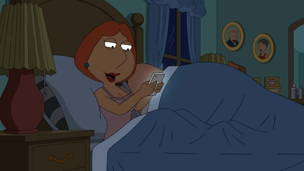 """FAMILY GUY Season 19 Episode 17 : Lois and Peter are mistaken for """"young parents"""" by another couple at Stewie's school and invited to live in a millennial apartment complex, leaving Meg and Chris home alone in the """"Young Parent Trap"""" episode of FAMILY GUY airing Sunday, April 18  (9:30-10:00 PM ET/PT) on FOX. FAMILY GUY © 2021 by 20th Television."""