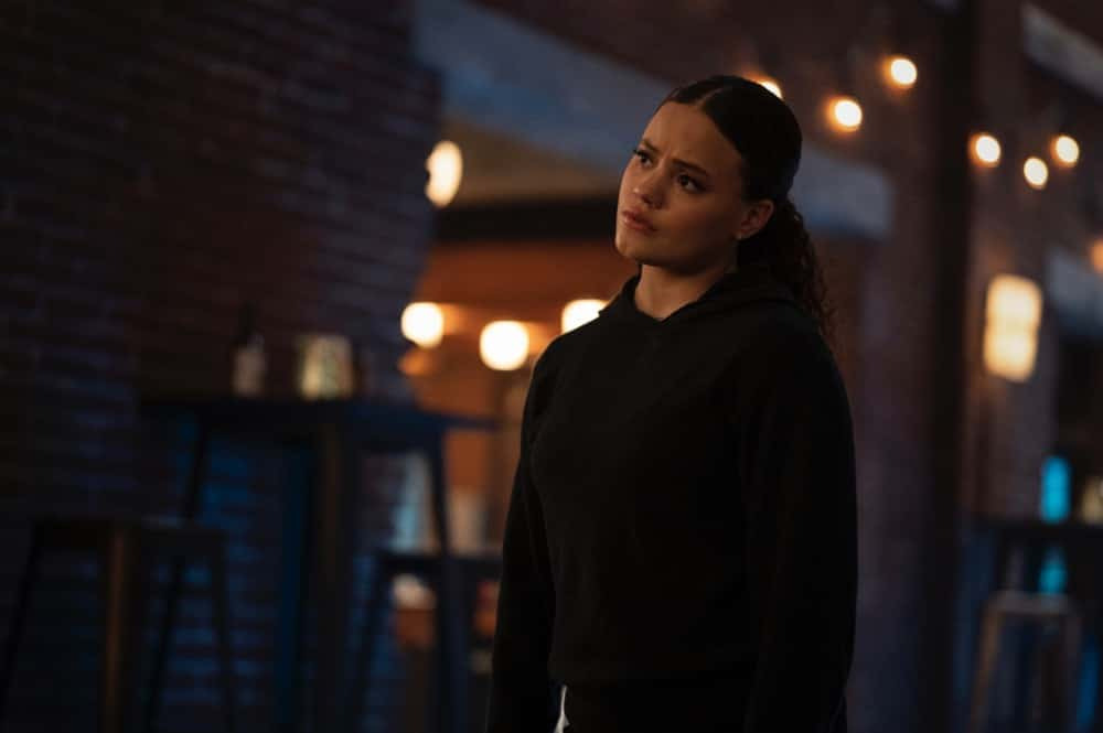 "Charmed -- ""Bruja-ha"" -- Image Number: CMD310b_0224r  -- Pictured: Sarah Jeffery as Maggie Vera -- Photo: Kailey Schwerman/The CW -- © 2021 The CW Network, LLC. All Rights Reserved."